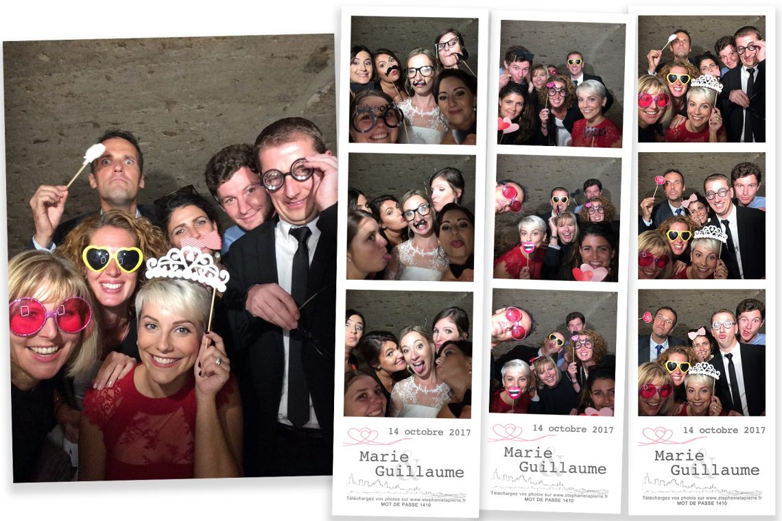 Mise en page mariage photobooth