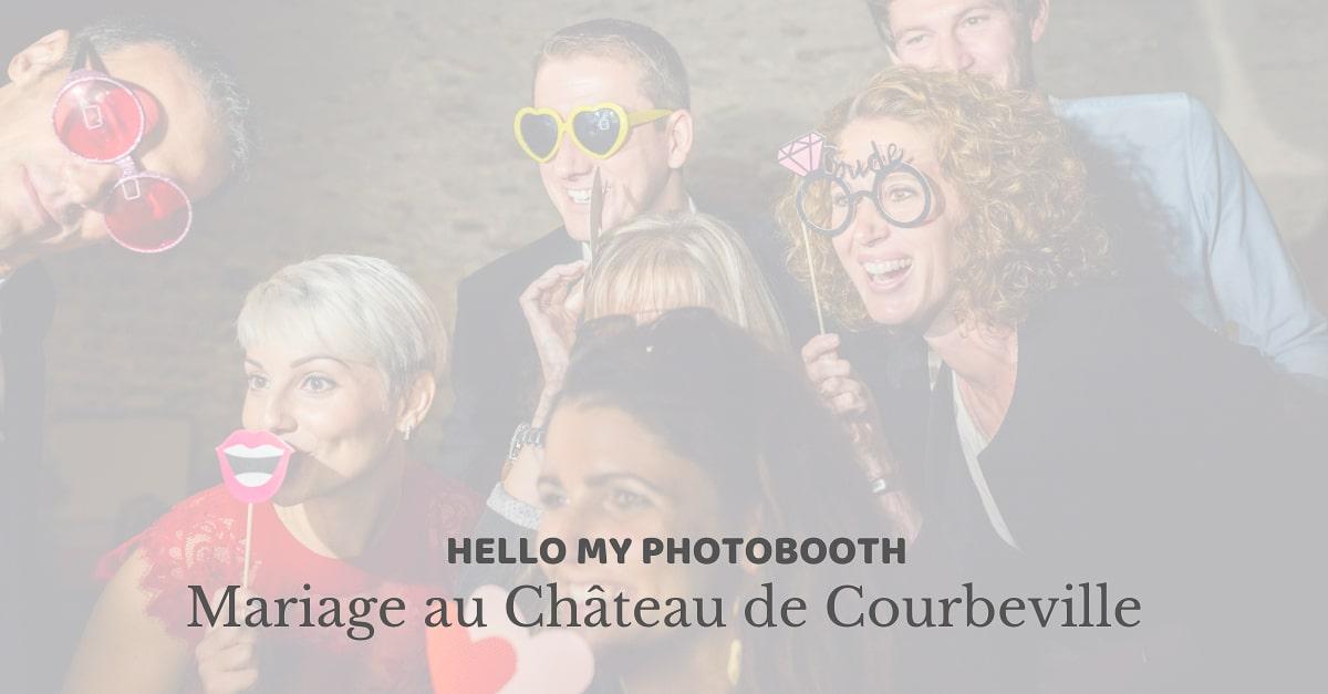 Photobooth pour un mariage au Château de Courbeville