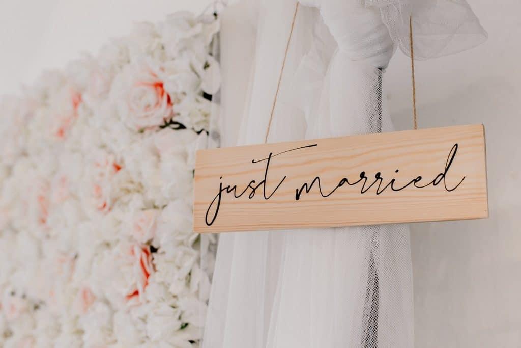panneau diy just married