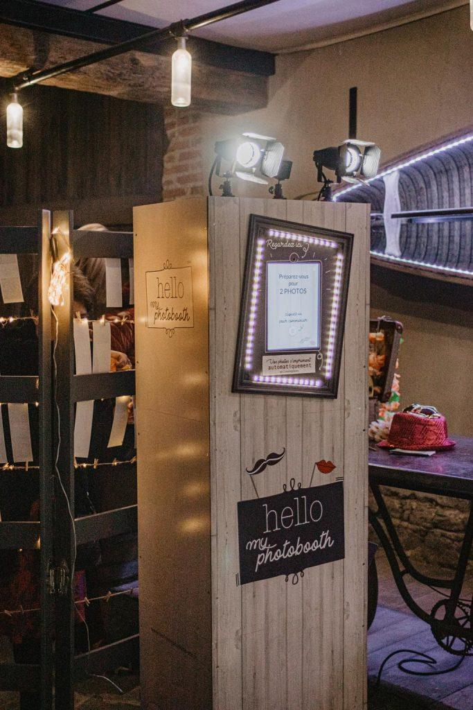 La box photo pendant le cocktail